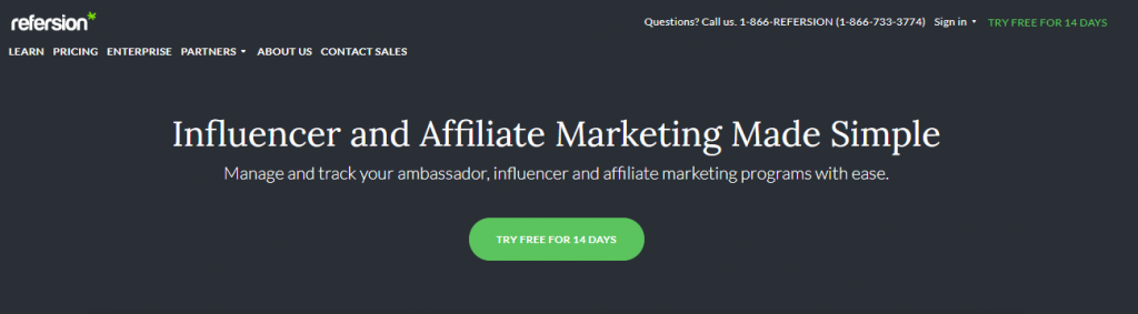 influencer marketing package example.