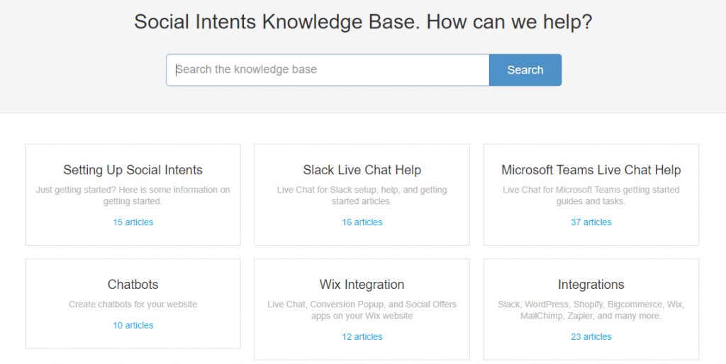 Example of a knowledge base.
