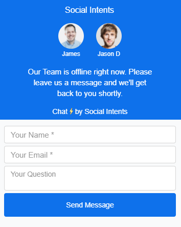 proactive live chat window.
