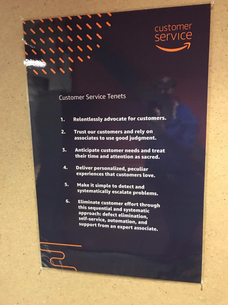 Example of proactive customer service from Amazon.