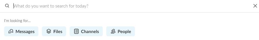 Slack messages commands.