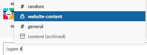 Channel management in Slack.